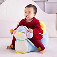 H.Baby Penguin Shape Soft Plush Cushion Baby Sofa Seat or Rocking Chair for Kids 0.5 to 2 Years (Blue)