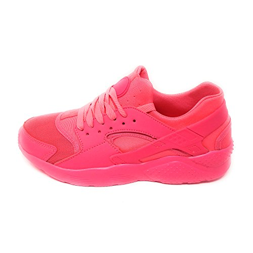 JT Damen Sneaker Trekking Schuh Fitness Freizeit LAUFTURN Schuhe Peach Neon 36-41