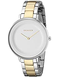 Skagen Womens SKW2339 Ditte Two Tone Silver and Gold Link Watch