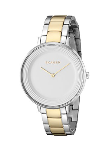 Skagen Women's SKW2339 Ditte Two Tone Silver and Gold Link Watch