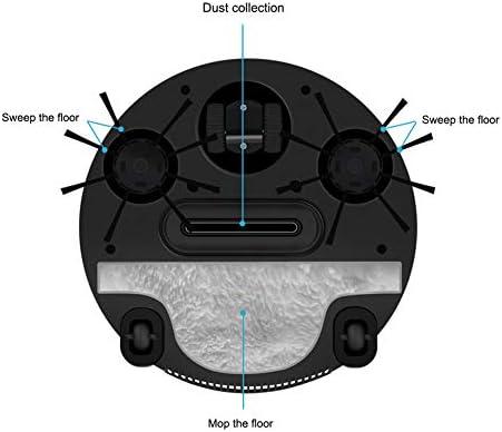 GDS Trois-en-Un Robot Intelligent, Nettoyage Automatique Intelligent Sweeper épousseter et Mopping pour Nettoyer Tapis et Plancher de Bois Franc Sec/Anim Cheveux