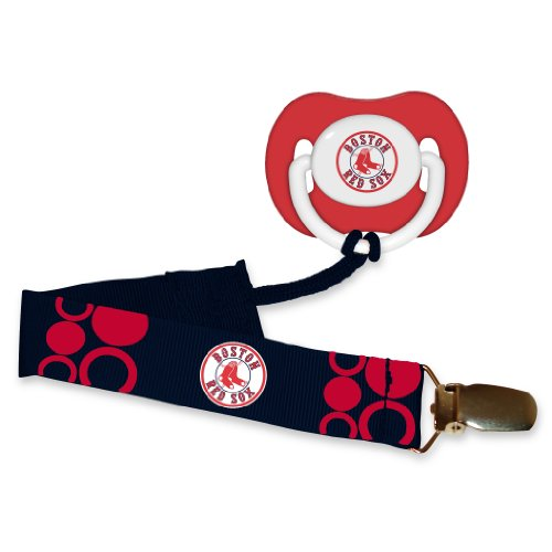 Boston Red Sox Pacifier Clip