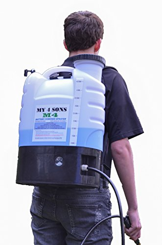 4-Gallon Battery Powered Backpack Sprayer Wide Mouth With STEEL WAND and BRASS NOZZLE by My 4 Sons