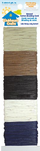 - Natural Cotton Braiding Cord 5-Colors