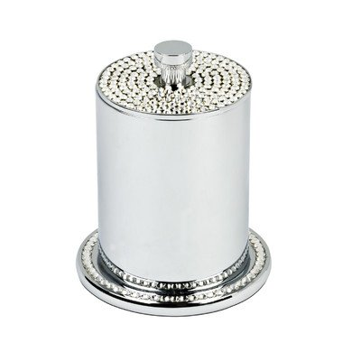 Freestanding Cotton Swab-Cotton Jar with Crystals by Topex