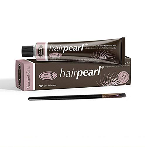 Hair Pearl Tint Brown with Tint Brush