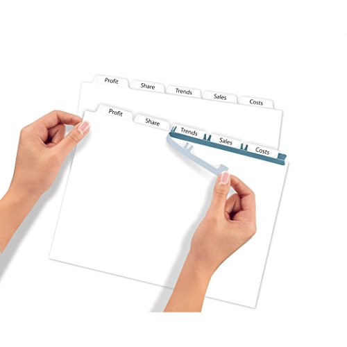 Avery index maker clear label dividers with easy apply for Avery easy apply 5 tab template