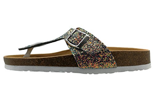 Flip Summer Toe Sandals Thong Royou Glitter Flop Strap Flat Yiuoer T Buckle Women Beach Open multicolored Gladiator for OO8w6