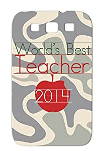 TPU Careers Professions 2014 Worlds Best Teacher Kindergarten Teacher Teachers Appreciation Apple Red Cover Case For Sumsang Galaxy S3