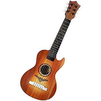 Happy Tune 6 String Acoustic Guitar Toy for Kids with Vibrant Sounds and Tunable Strings (Brown)