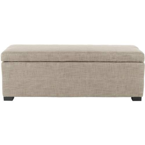 Madison Storage Bench Stone/Black/Large