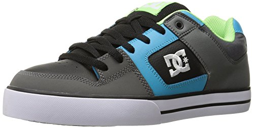 DC Mens Pure Action Sport Sneaker, Grey/Green/Blue, 38.5 D(M) EU/5.5 D(M) UK