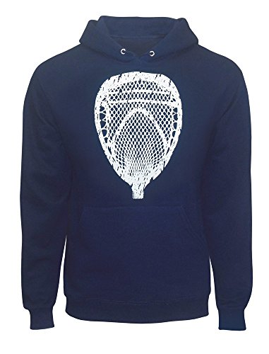 Zone Apparel Lacrosse Men's Goalie Head Hoodie Sweatshirt Medium Navy