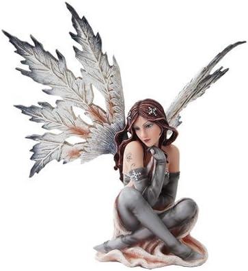 PTC 14 Inch Winter Wonderland Snowflake Winged Fairy Statue Figurine
