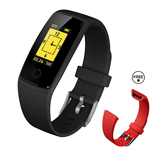 Pace Digit Clock (Fitness Tracker Watch,Fitness Tracker With Heart Rate Monitor,DIGI-YOUNG Activity Tracker Smart Band With Blood Pressure,Colorful Screen,Step Counter,Sleep Monitor,GPS Tracker,Smart Bracelet)