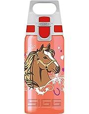 Sigg VIVA ONE Horses drinkfles voor kinderen, 0,5 l, vrij van schadelijke stoffen, met lekvrije deksel, met één hand bedienbare drinkfles voor kinderen