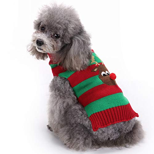 Alodidae Dog Sweater Christmas Puppy Cute Warm Clothes Doggie Winter Knitwear Sweaters Pet Cat Xmas Clothing