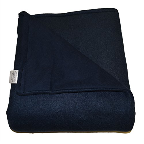 Price comparison product image Adult Large Weighted Blanket Sensory Goods -MADE IN AMERICA- 15lb Medium Pressure - Navy - Fleece/Flannel (42'' x 72'') Our Weighted Blankets provide Comfort and Relaxation