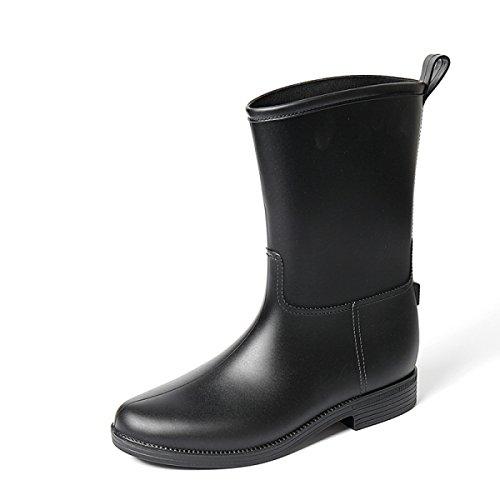 HOFFNUNG Männer Frauen Regen Stiefel Wasser Schuhe Wasserdicht Anti-Schlamm Vier Jahreszeiten Anti-Rutsch Tasteless Soft,A-c A