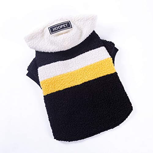 Stripes Snap Beige (Jim Hugh Pet Dog Clothes Stripes Snaps Big Dog Coats Warm Hoodies Winter Dog Jacket Large Dog Clothes)