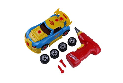 Educational Insights Design and Drill Constructables Vehicles Take Apart Toys for Toddlers Construction Car Play Set Build your Own Race Car Pretend Play Repair Tools Kids Building Racing & eBook