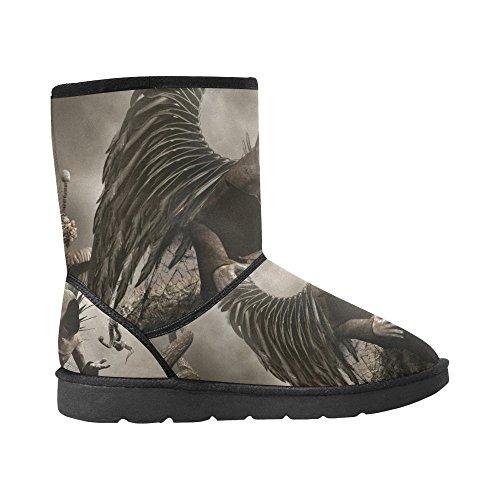 Interestprint Leinterest Dark Angel Snow Boots Moda Scarpe Da Uomo