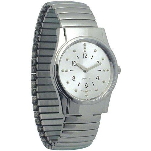 - Men's Chrome Braille Watch