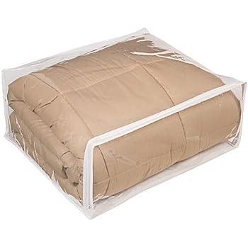Amazon Com Clear Vinyl Zippered Blanket Storage Bags