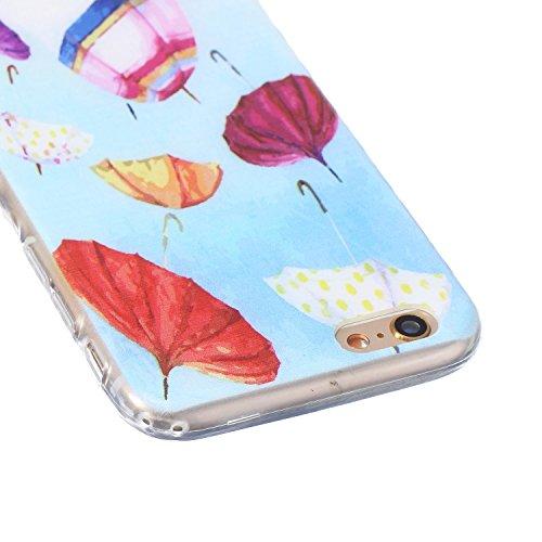 Meet de pour Apple iPhone 6 6S (4,7 Zoll) Ultra Slim Flexible Transparent Soft Case / Housse / Portefeuille / Cover Étui / Housse étui - parapluie