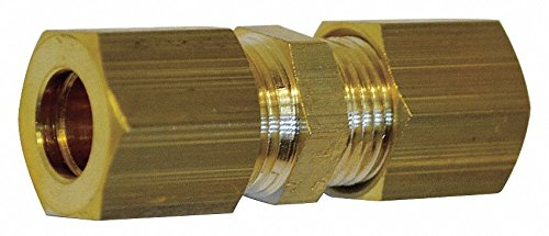 Legris 0106 06 00 Legris - 0106 06 00 - Brass Compression Equal Straight Union, 15/64 Tube Size