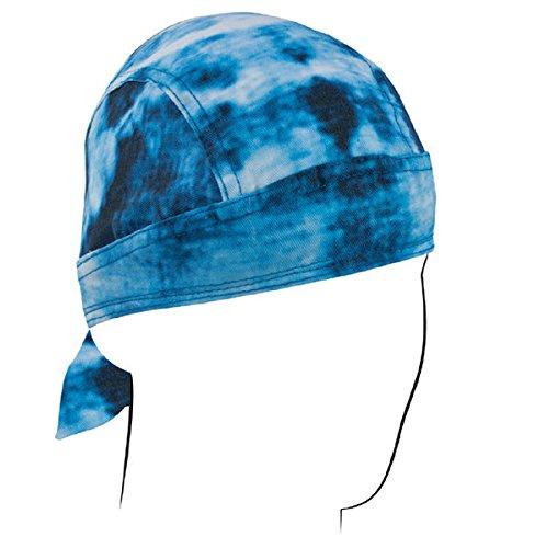 ZanHeadgear, Road Hog Flydanna, 100% Cotton, Blue Tie Dye, SKU# ZSG100 Zanheadgear Road Hog