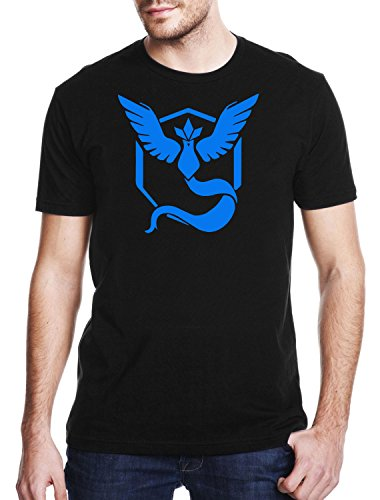 TEAM-MYSTIC-Gaming-T-shirt-Pokemon-GO-T-shirt-Unisex-Adults-Geek-Nerd-T-shirt-Mens-Comedy-T-Shirt
