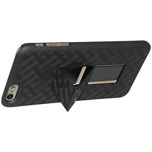 Amzer shellster Coque rigide avec béquille intégrée pour iPhone 6–Noir