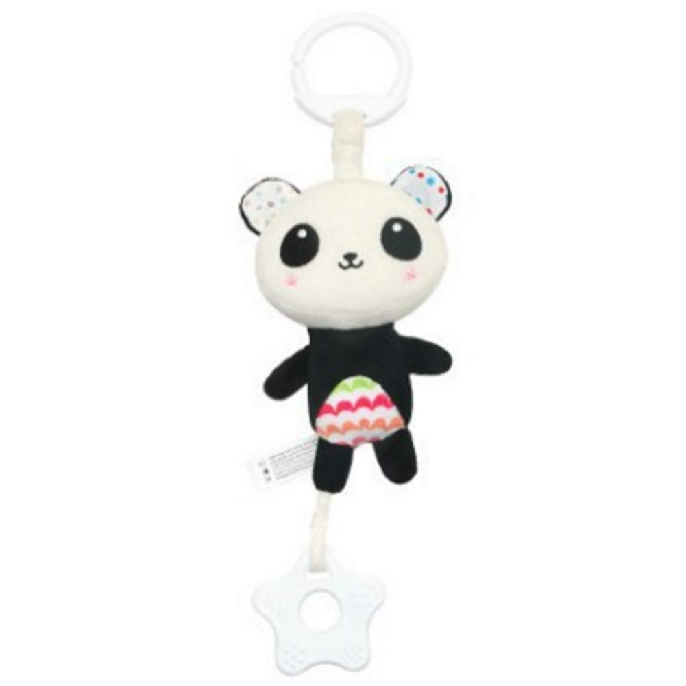 Cartoon Baby Hanging Rattle Toys Newborn Stroller Hanging Bell Kids Plush Toys Musical Crib(Panda) Naisidier