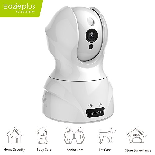 Eazieplus Wireless Security Camera, HD 1080P Wifi IP Camera Surveillance Camera With Two Way Audio Night Vision For Pet Monitor, Nanny Camera, Baby Monitor and Puppy Cam (White) For Sale