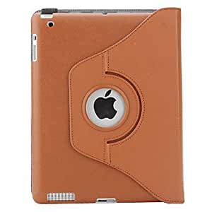 AES - 360 Degree Rotable Mailman Bag Style PU Leather Case with Stand for iPad 2/3/4 (Coffee)