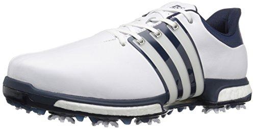 adidas Men's Tour 360 Boost WD FTWWHT Golf Shoe, White, 11 2E US