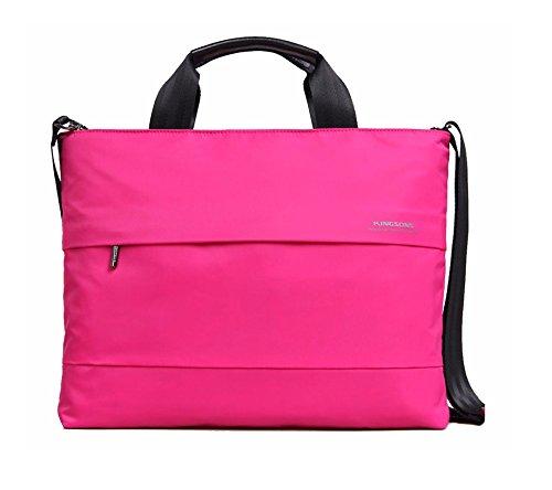 "Kingsons Best In Class Charlotte Series 15.4"" Pink Laptop Shoulder Bag for Apple, Dell, HP, Asus, Lenovo, Acer, & Toshiba"