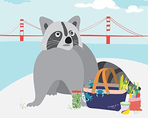 Raccoon Nursery Art Print