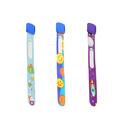 (Ouchan Child ID Safety Bracelet Re-usable Waterproof and Multi-Design for Choice (Boy Set-3pcs))