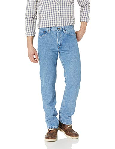Wrangler Authentics Men's Big and Tall Classic Regular Fit Jean, Light Stonewash, 48x30