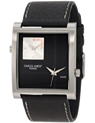 Charles-Hubert, Paris Mens 3748-B Premium Collection Stainless Steel Dual-Time Watch