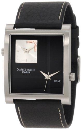- Charles-Hubert, Paris Men's 3748-B Premium Collection Stainless Steel Dual-Time Watch