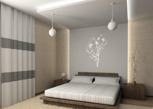 Wandtattooladen Wandtattoo - MohnBlaume 2 2 2 Größe 91x140cm Farbe  weiß B00IW2XSWK | Elegante und robuste Verpackung  8e00dc