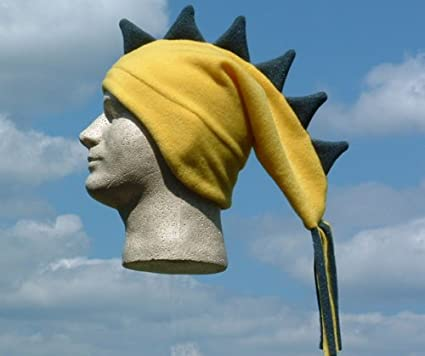 831e4e40736 Amazon.com  Yellow and Navy Ski Fleece Dragon Hat - Adult  Clothing