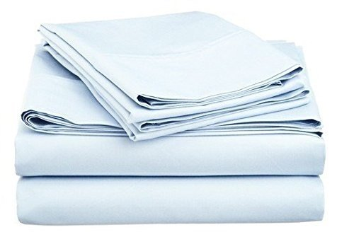 Linenwalas Premium 100 Cotton Bed Sheet Set – Natural, Soft, Deep Pocket Bedding Set Twin Xl ,Sky