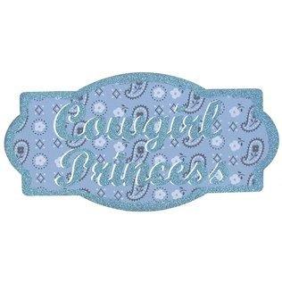 Cowgirl Princess Glitter Plaque -