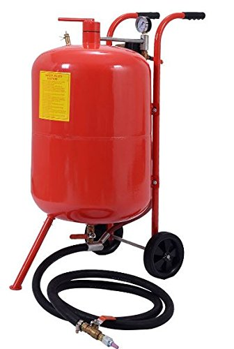 K&A Company 20 Gallon Sand Blaster Air Media Abrasive Blasting Tank Portable Red Sandblaster Steel Easy by K&A Company