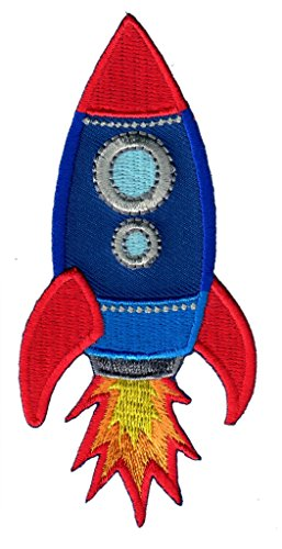 Rocket Applique (PatchMommy Iron On Patch, Rocket - Appliques For Kids Children)