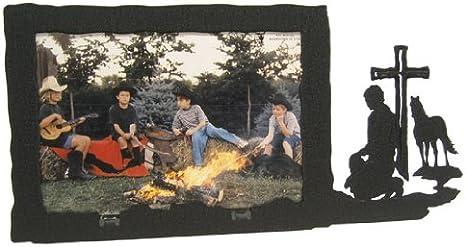 Campfire Grandkids Distressed 4 by 6-Inch Picture Frame Malden International Designs Sentiments Brown